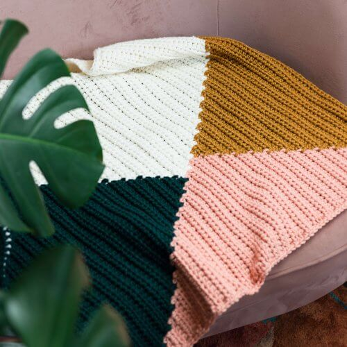 Colour Block Blanket Crochet Kit
