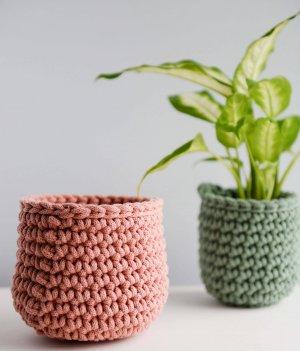 Crochet Basket Duo Kit