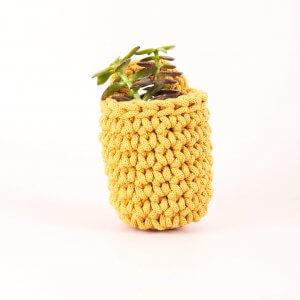 Easy Peasy Crochet Pot Kit Mustard