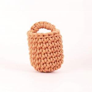 Easy Peasy Crochet Pot Terracotta