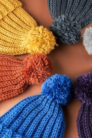 crochet bobble hats